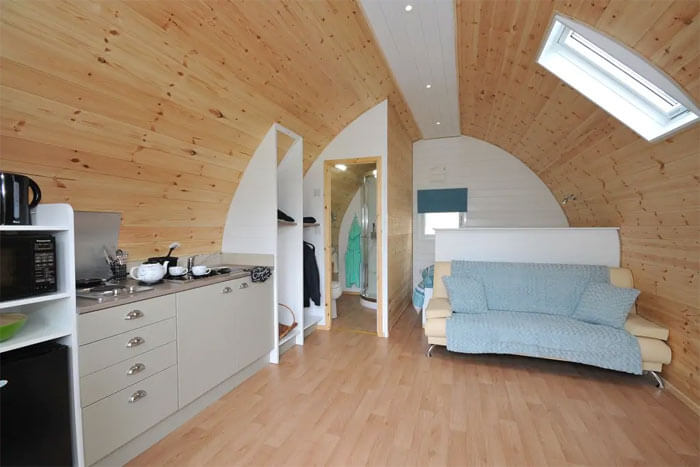 inside Southwell Retreat Glamping Pods
