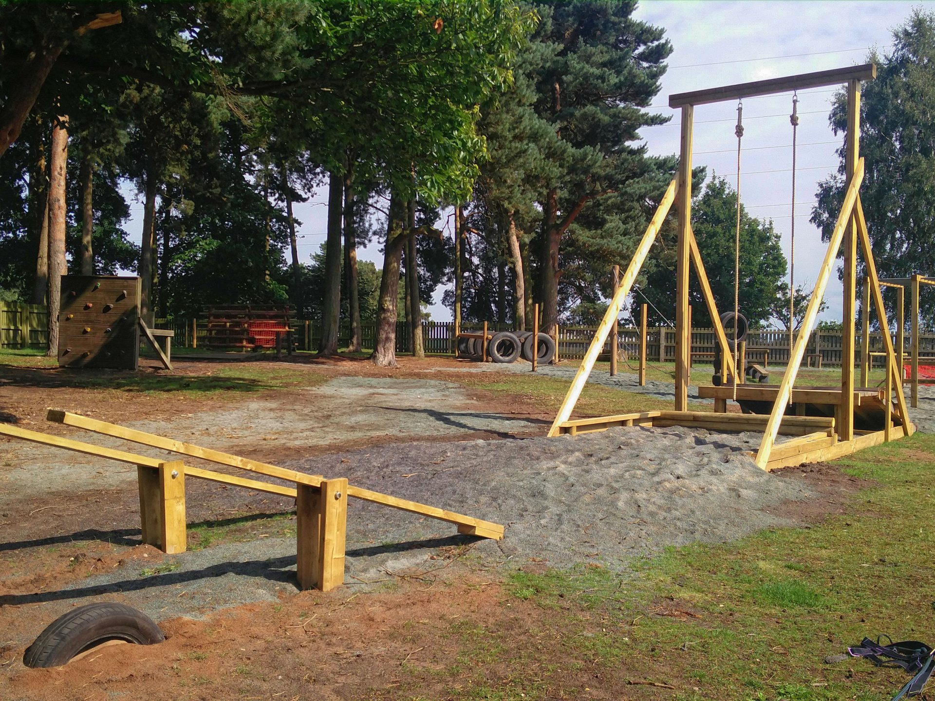 Assault course at Walesby forest