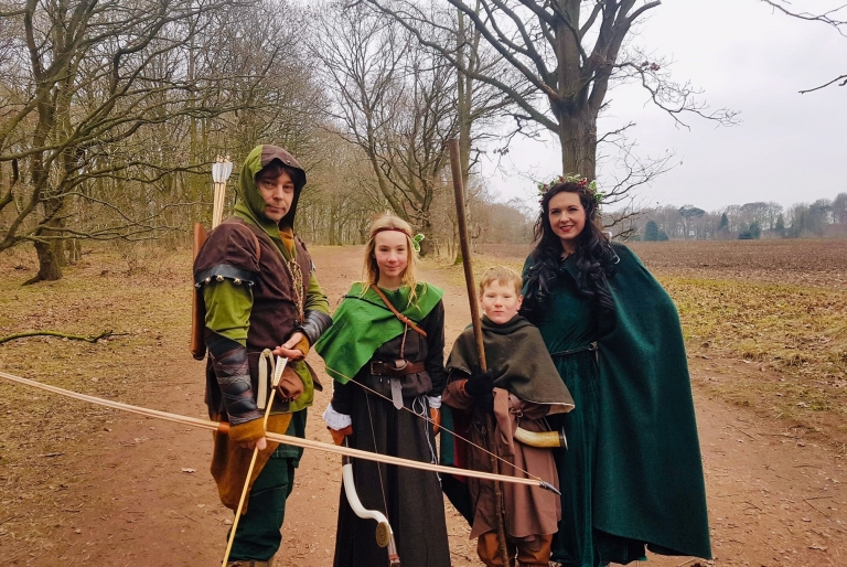 4 outlaws at Sherwood Forest