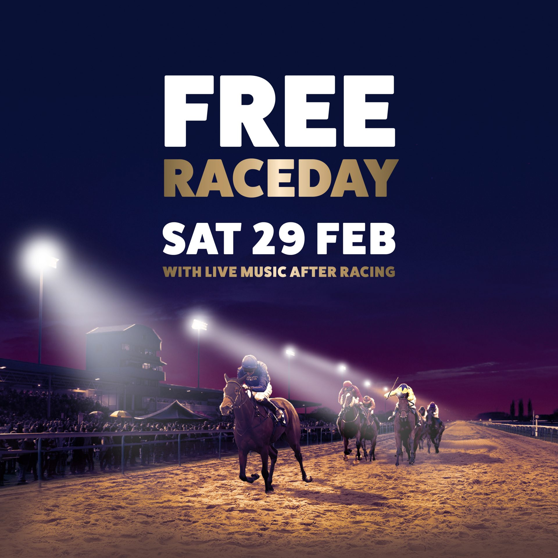 Free Raceday event poster