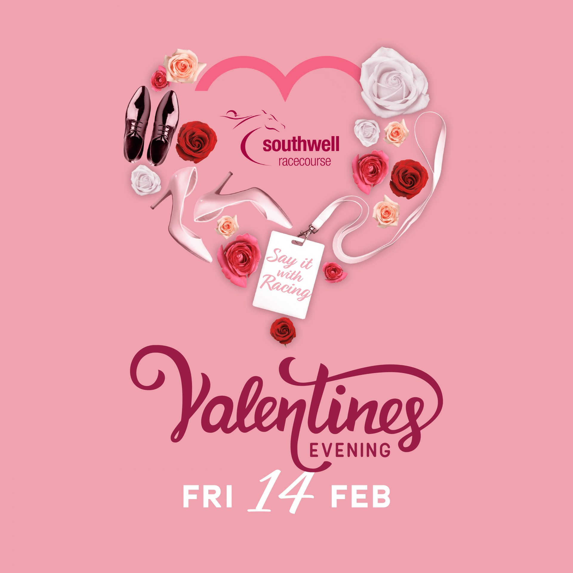 Valentines Day event at Southwell Racecourse poster