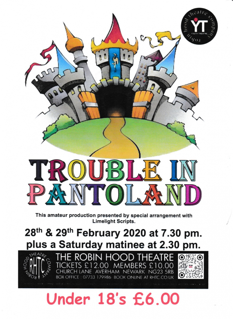 Trouble in Pantoland event poster