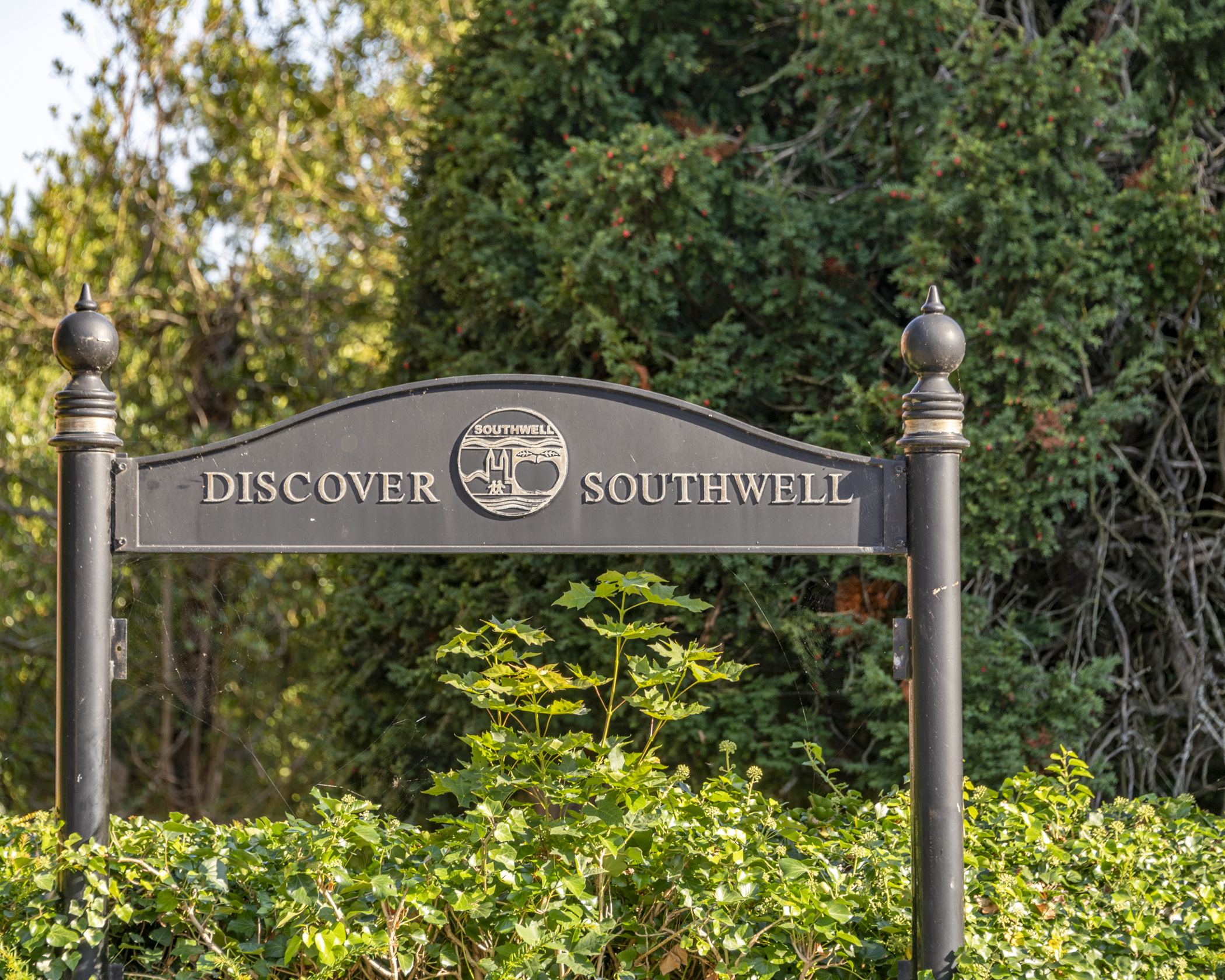 Discover Southwell sign outside the town