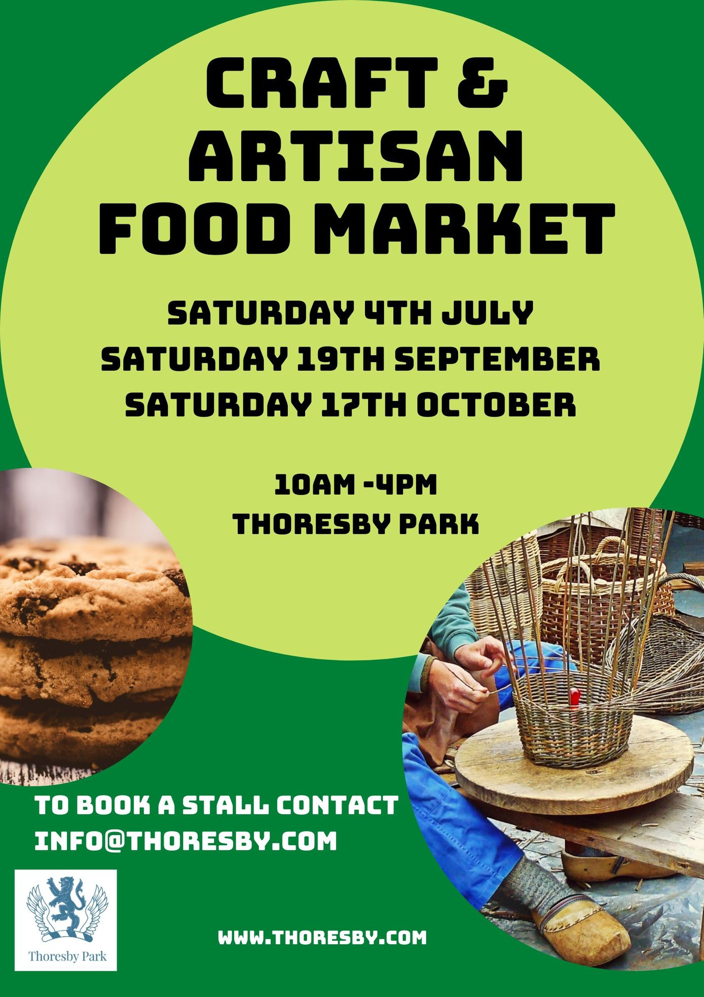 Craft & Artisan Food Market poster at Thoresby Park