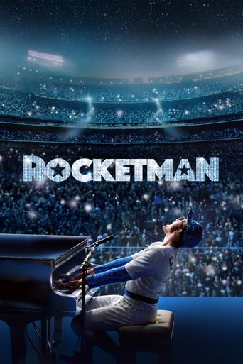 Rocketman movie poster featuring Taron Egerton as Elton John