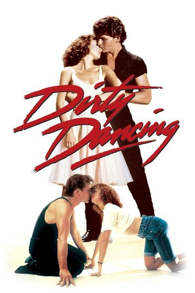 Dirty Dancing movie poster featuring Patrick Swayze and Jennifer Grey
