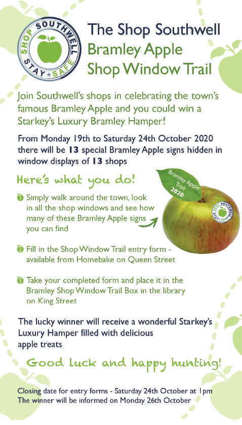 Bramley Apple Shop Window Trail sign