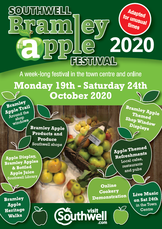 Flyer for the Bramley Apple Festival 2020