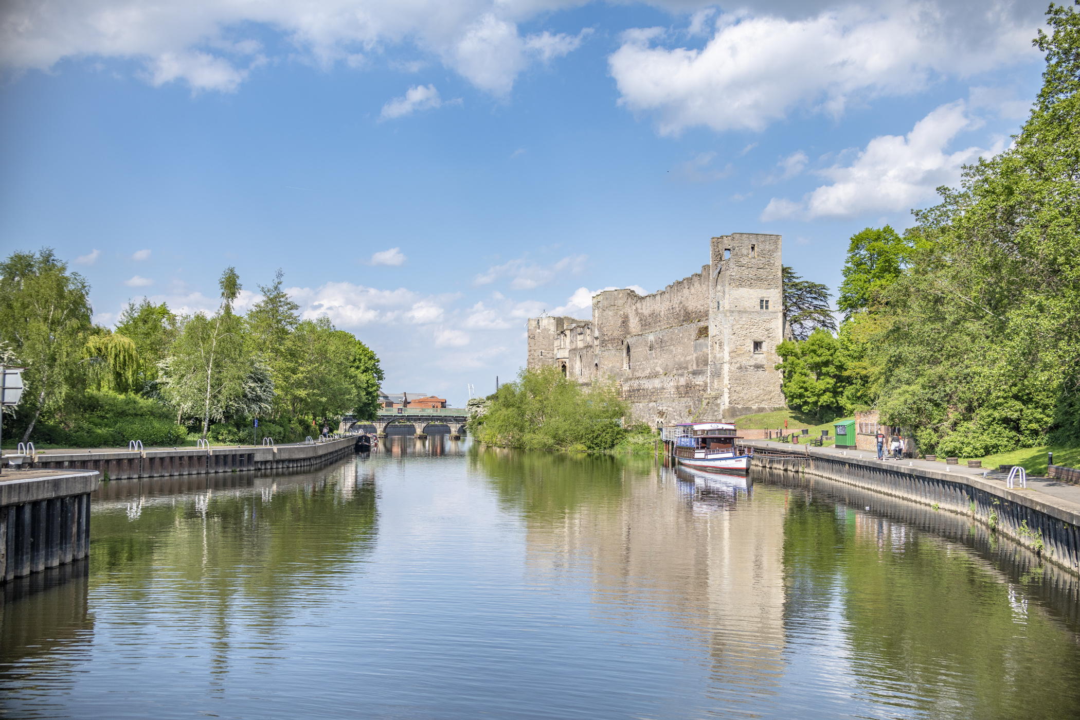 Newark Castle overlooking the River