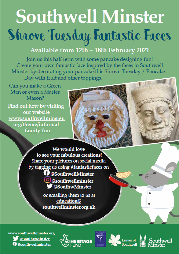 southwell minster fantastic faces event poster