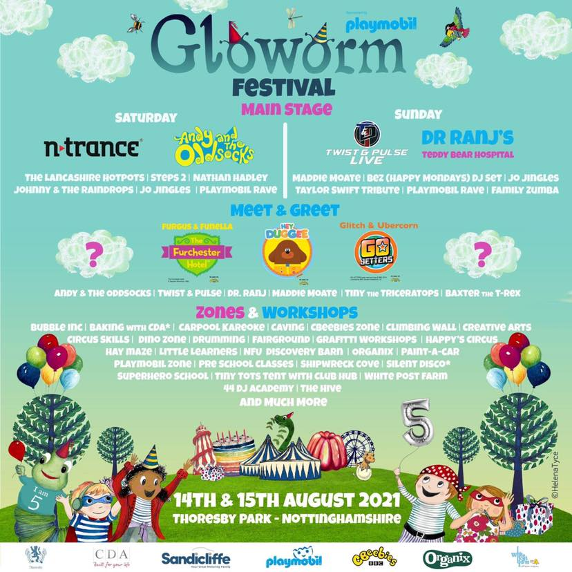 Gloworm festival event poster
