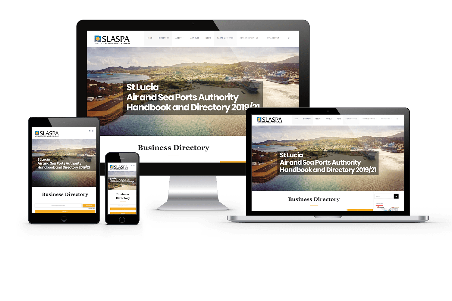 port, stlucia,device,responsive,webdesign